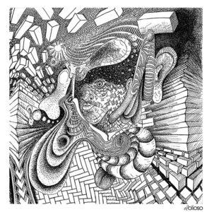 Tusche auf Papier, Skizzenbuchseite 20cm x 20cm, 2019