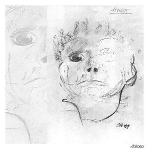 Grafik 21 x 30cm Kohle auf Papier / 1989