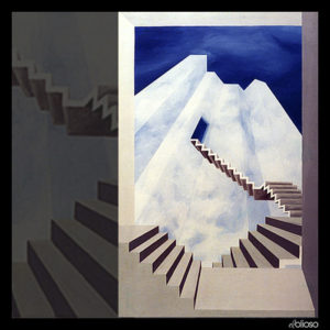 Malerei 92 x 144cm Acryl auf Leinwand 1990