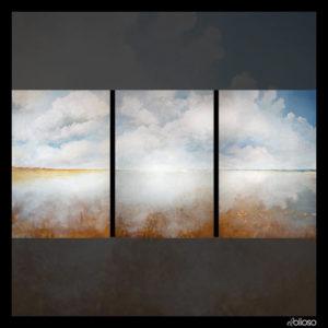 Malerei - Triptichon alle Teile je 60 x 90cm, Acryl auf Hartfaserplatte 2011