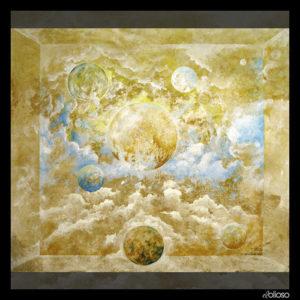 Malerei 80 x 70cm Acryl auf Hartfaser 2006