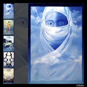 Eierläuferserie Bild 1 Malerei 100 x 150cm Acryl auf Hartfaser 1995