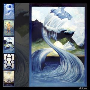 Eierläuferserie Bild 3 Malerei 100 x 150cm Acryl auf Hartfaser 1995