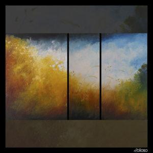 Malerei - Triptychon 230 x 140cm Acryl/mischtechnik auf Hartfaser 2005