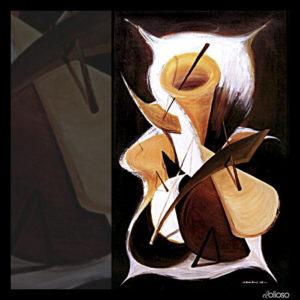 Malerei 83 x 233cm Acryl auf Leinwand 1989