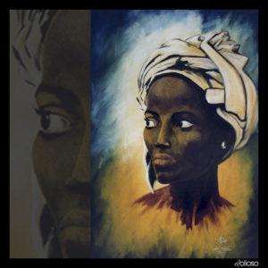 Malerei 64,5 x 97,5cm Acryl auf Hartfaser 1996