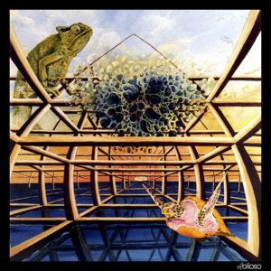 Malerei 100 x 100cm Acryl auf Hartfaser 1995