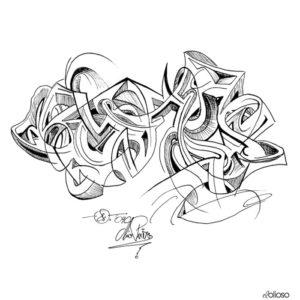 Grafik 30 x 21cm Eddind auf Papier / 2009