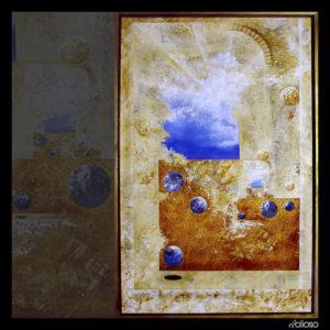 Malerei 100 x 150cm Acryl auf Hartfaser 1998