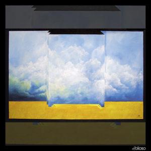 Malerei 150 x 100cm Acryl auf Hartfaser 2005