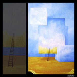 Malerei 100 x 150cm Acryl auf Hartfaser 2005