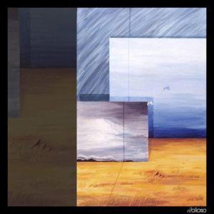 Malerei 76 x 120cm Acryl auf Leinwand 1990