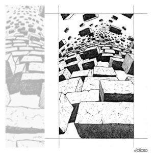 Grafik 21 x 30cm Edding auf Papier / 1989